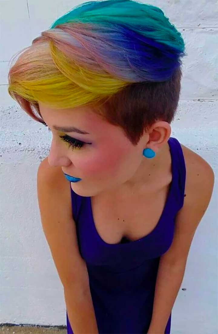 Turquoise, Blue, Yellow And Pink