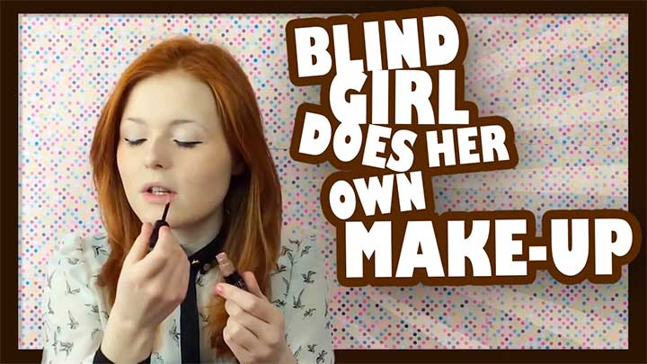 This Blind Beauty Blogger's Makeup Tutorials Will Be The Most Inspiring Thing You See All Day