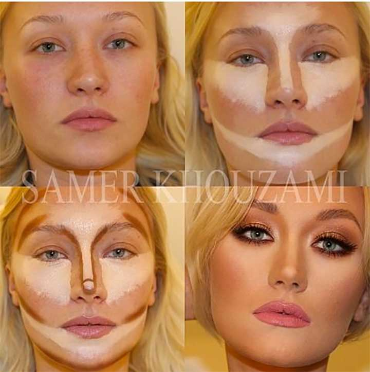 Contouring Before And After Makeup