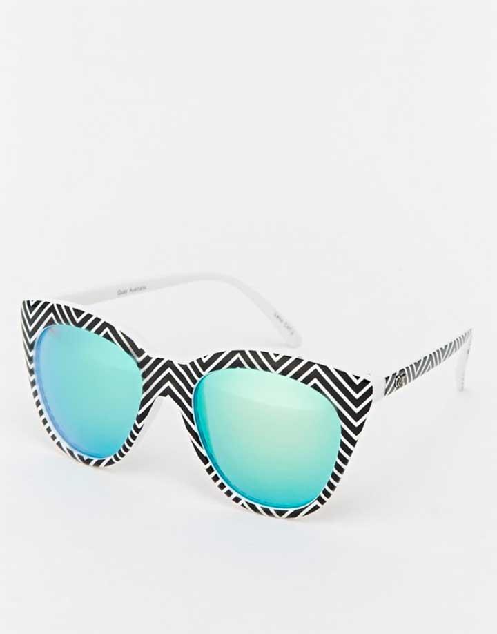 Quay Isabell Mirror Cat Eye Sunglasses