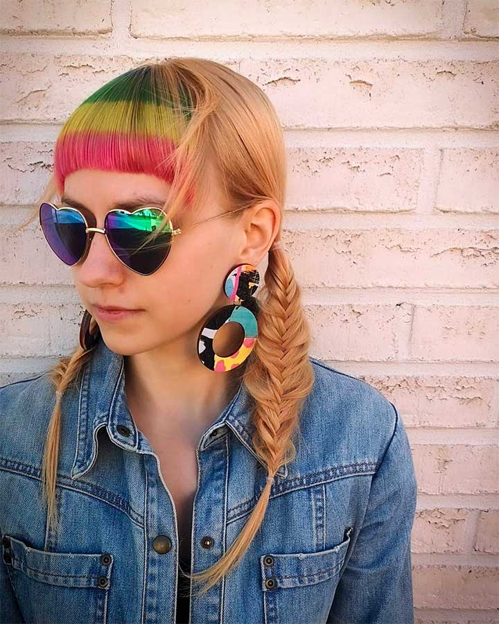 Rainbow Bangs Is The New Hair Color Trend