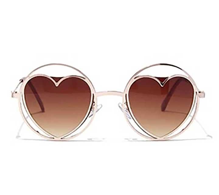 Round Cutout Heart Sunglasses