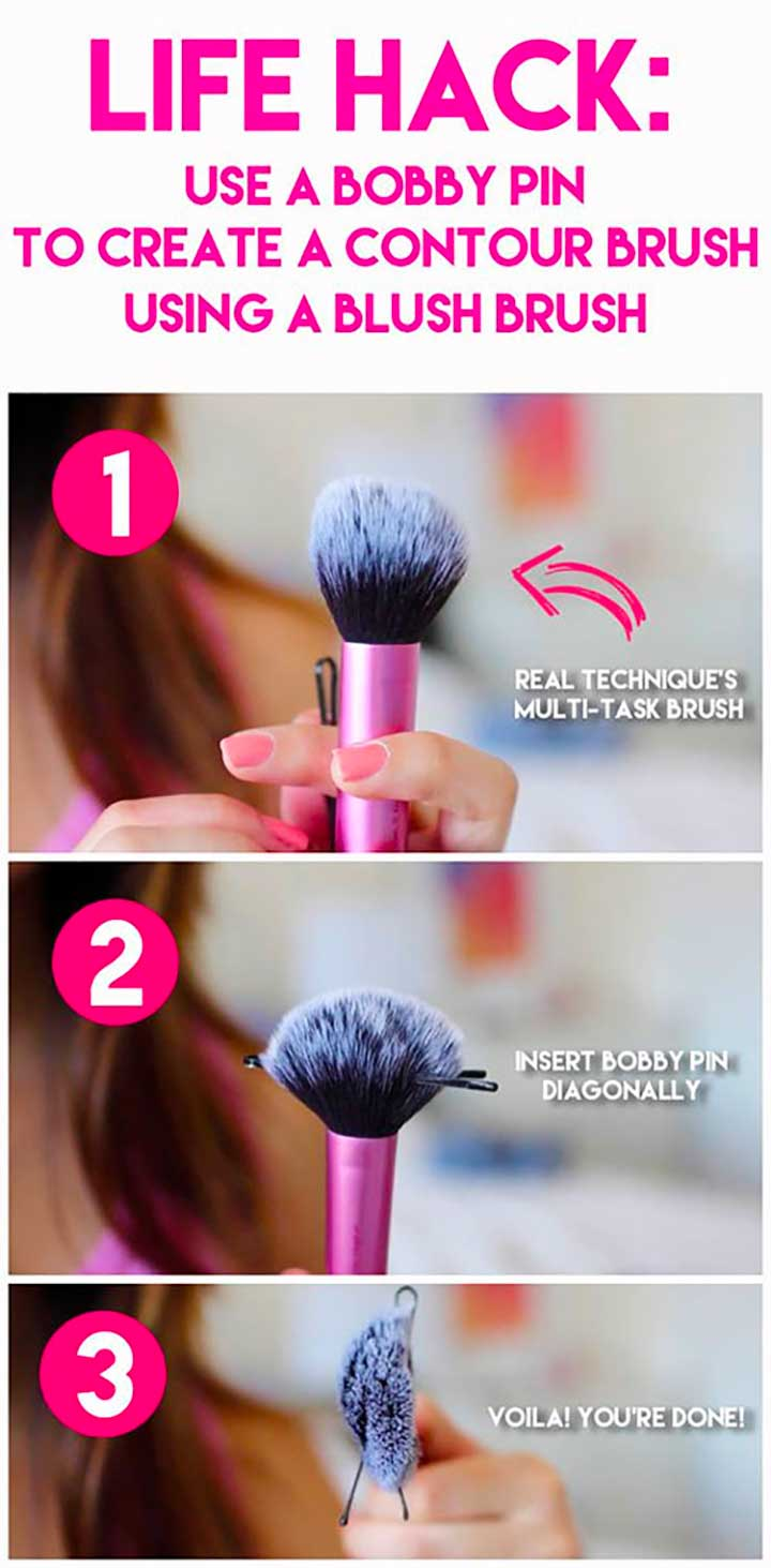 Use A Bobby Pin To Create A Contour Brush