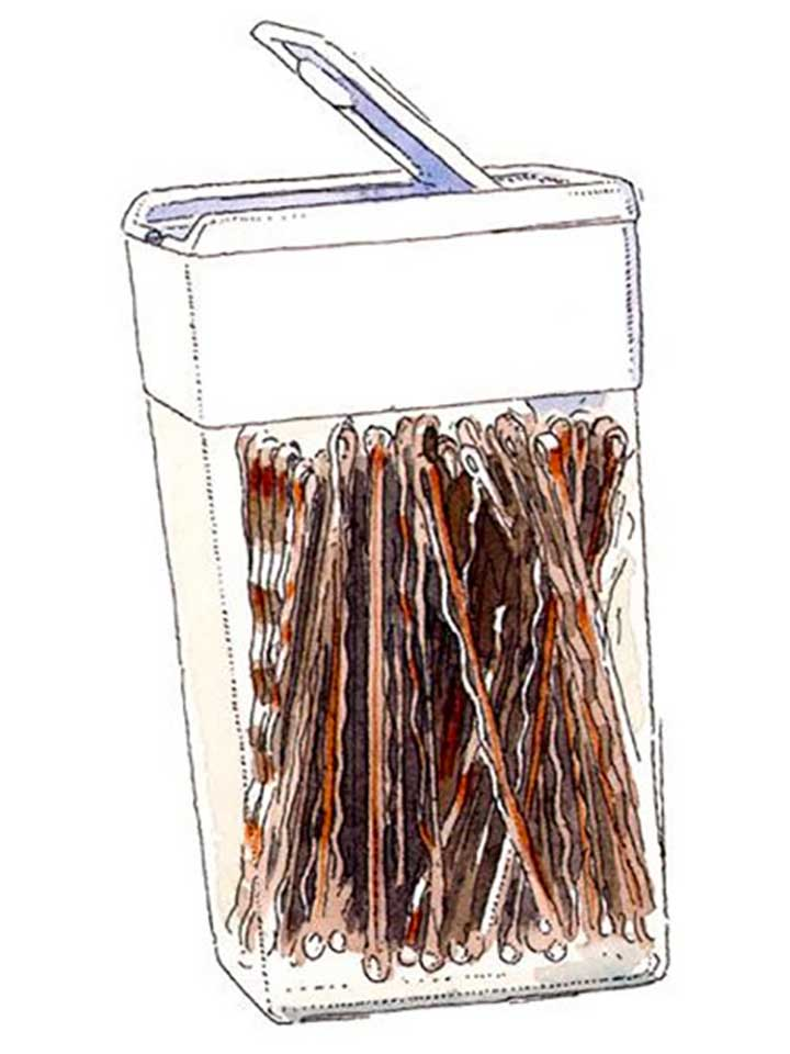 Bobby pins tic-tac container hack