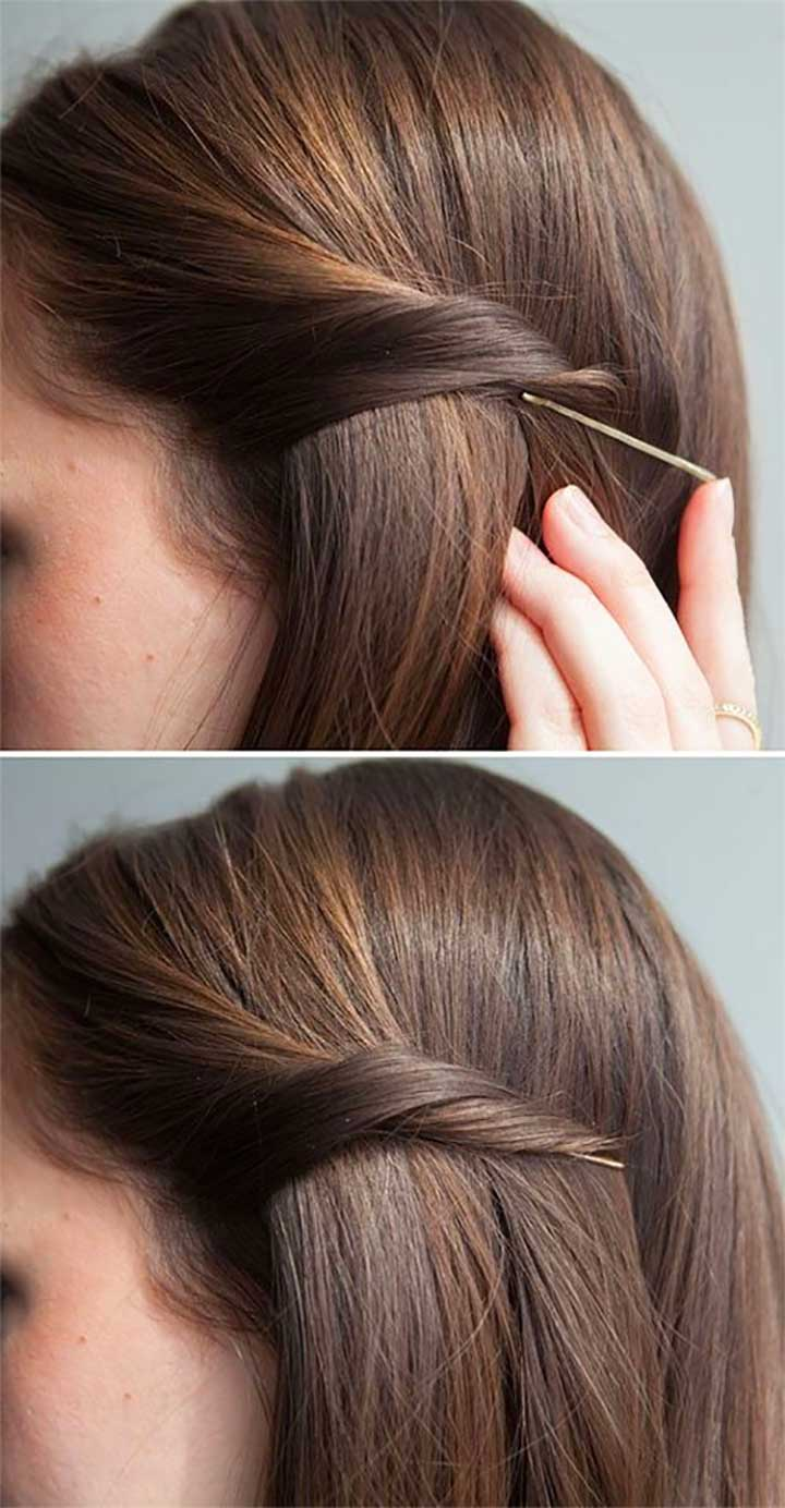 Hair twist bobby pin hacks