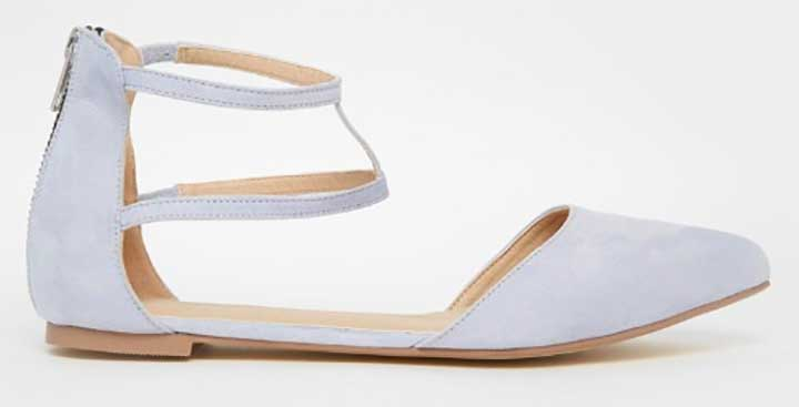 ASOS Pointed Double-Strap Ballet Flat