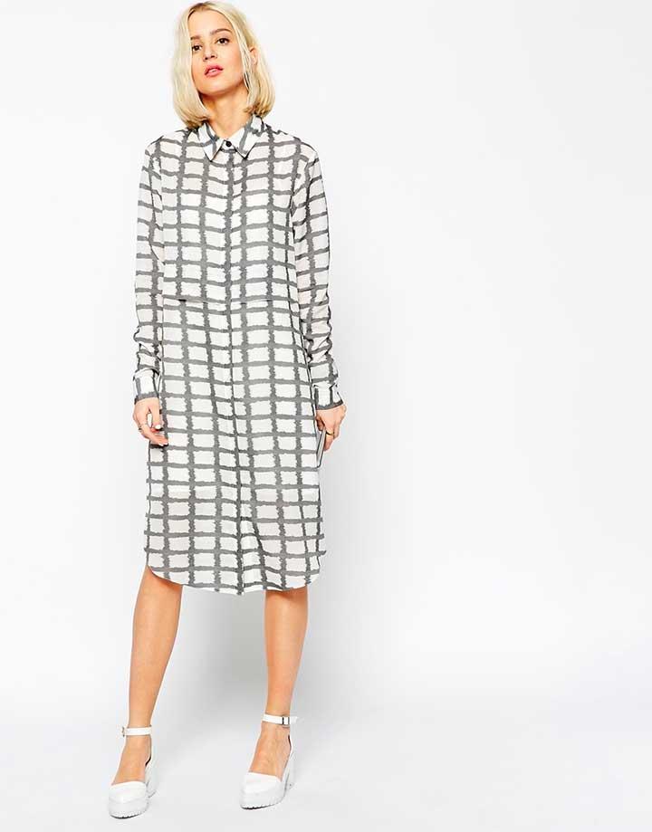 ASOS checkered shirt dress