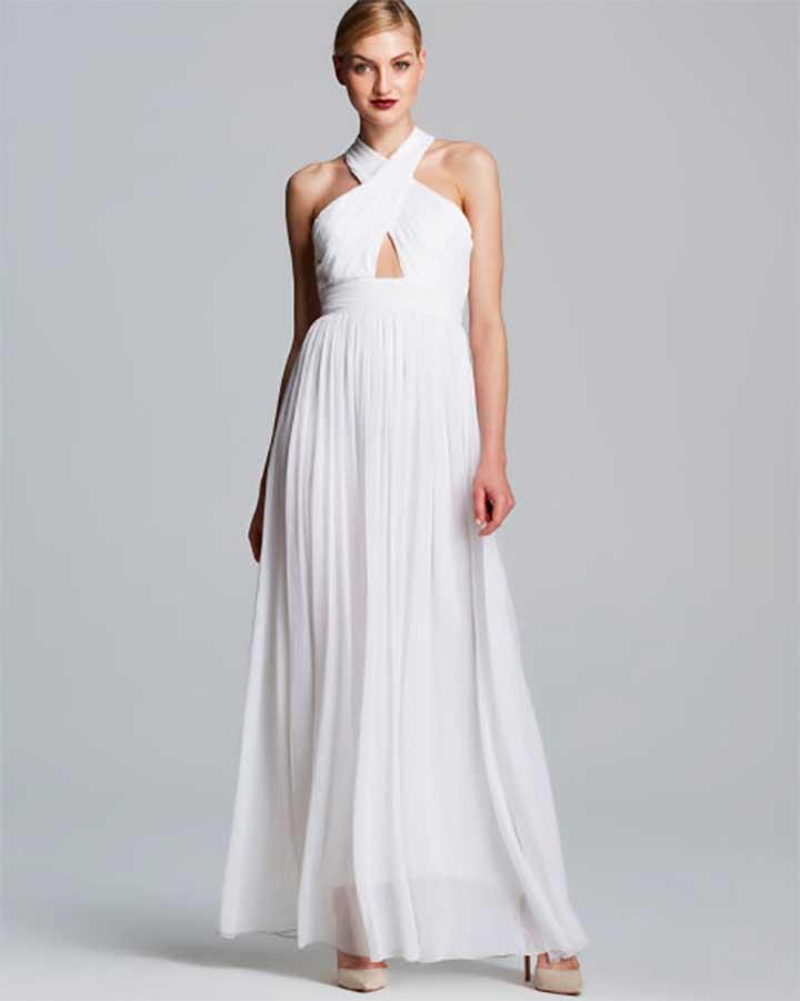Alice + Olivia Jaelyn Cutout Chiffon Maxi Dress