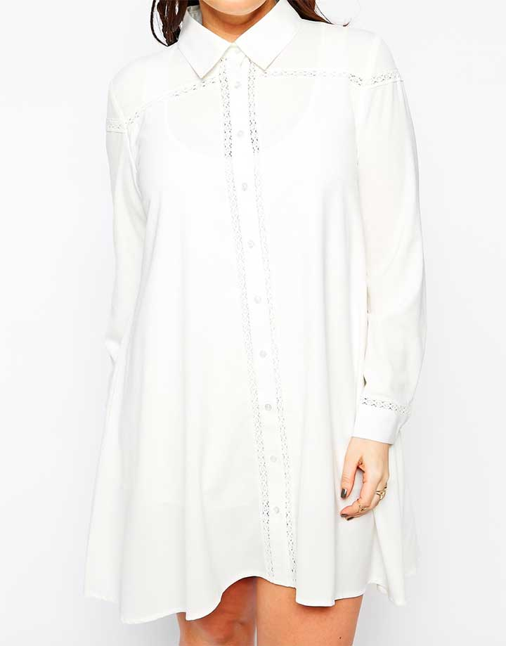 Alice & You embroidered shirt dress