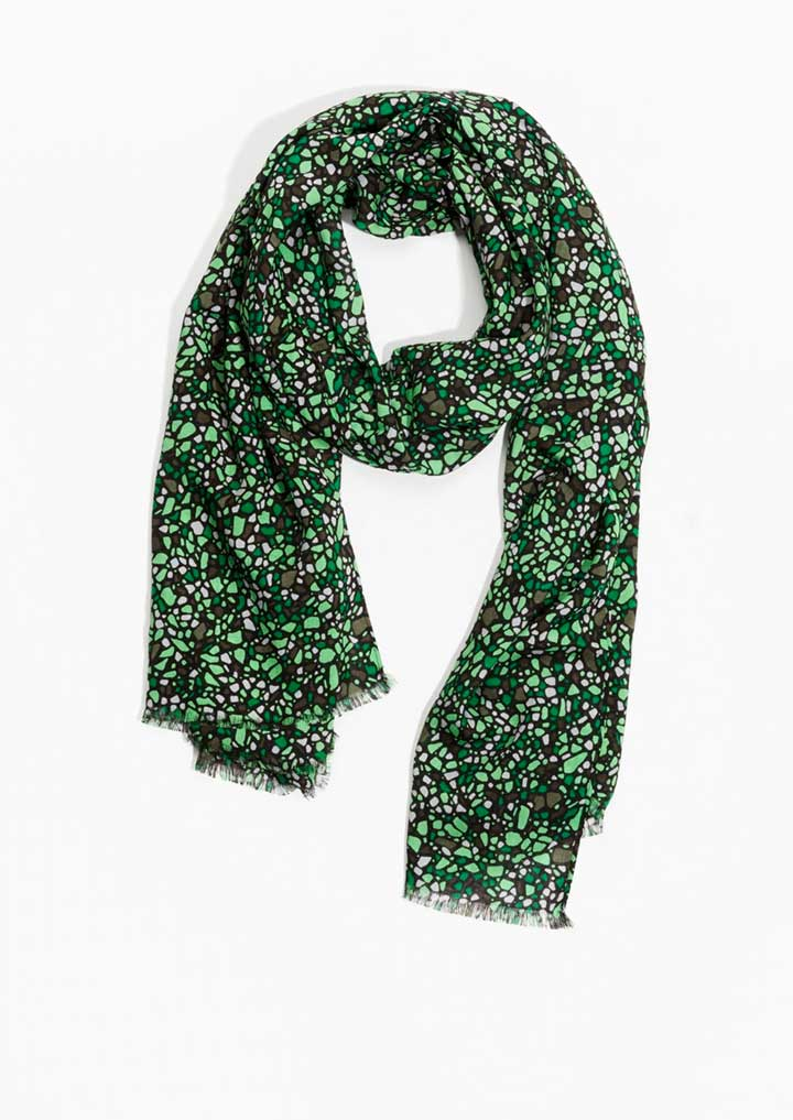 & Other Stories Gravel Print Scarf