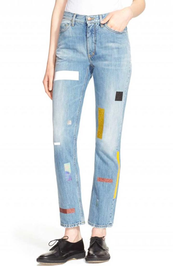 Nordstrom Aries 'Norm' Taped Straight Leg Jeans