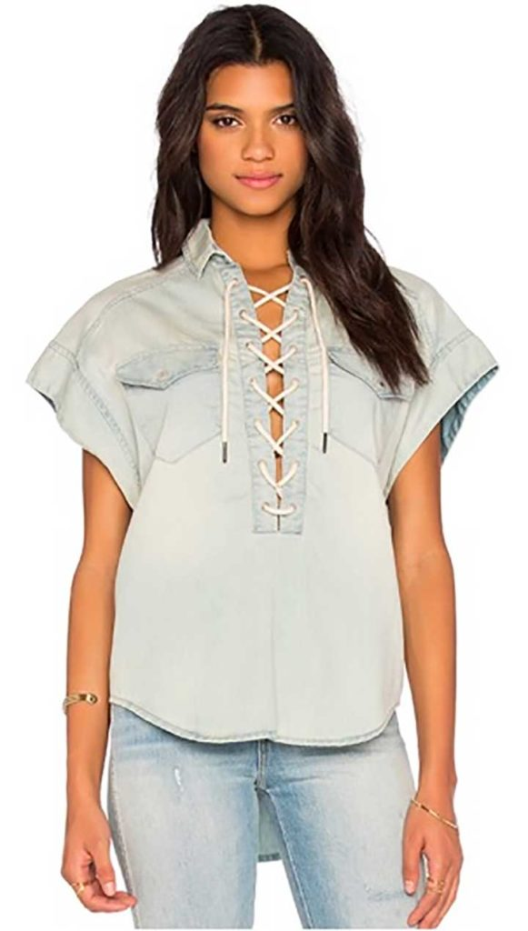 BlankNYC Lace-Up Top
