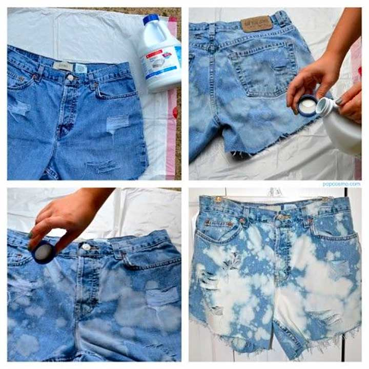 Bleached High-Waisted Jean Shorts