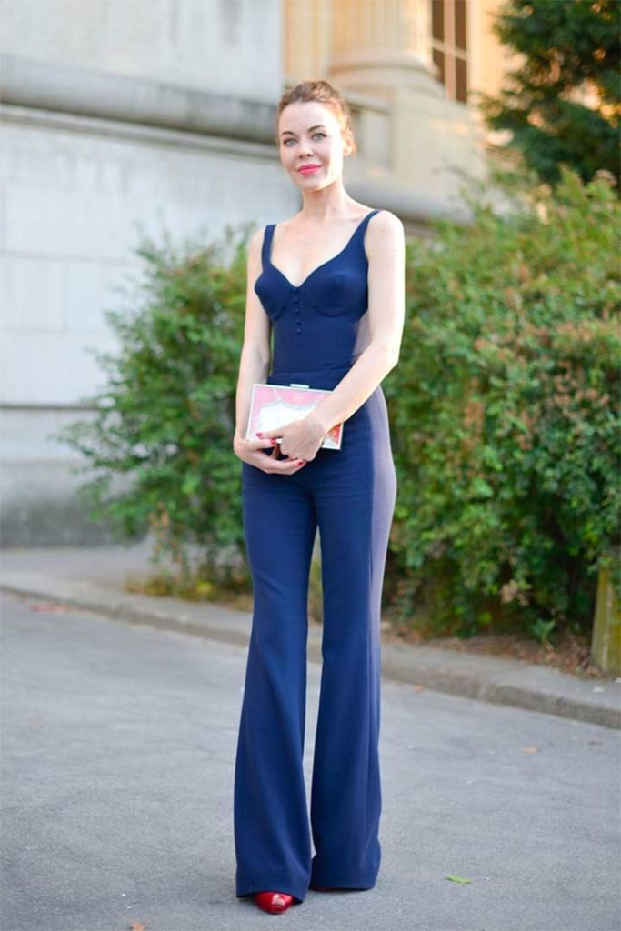 Blue Flared Pants