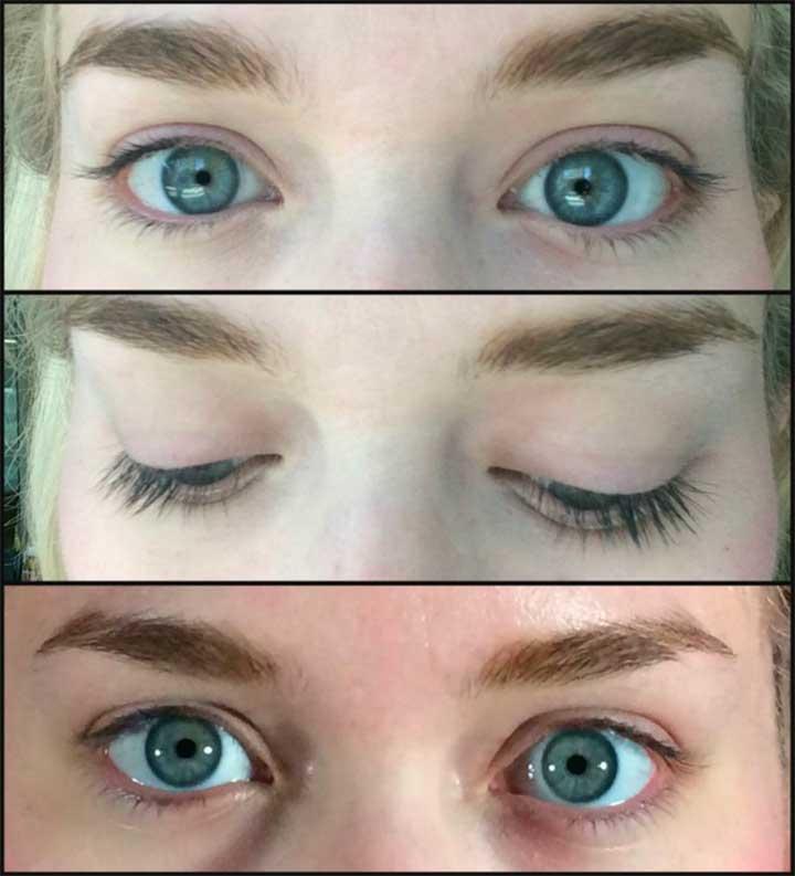 Blue eyes no makeup thick eyebrows Diorshow Mascara review