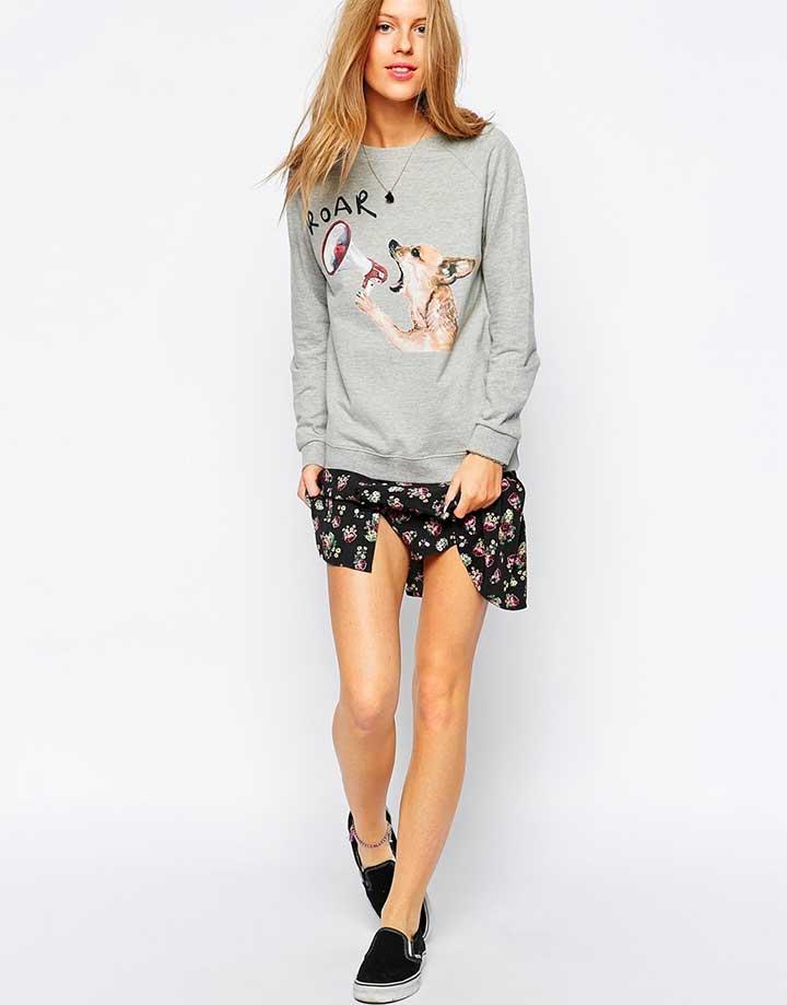 Brat & Suzie Dog Roar Sweatshirt