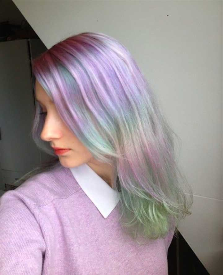 Bright Opal Hair Is Instagram's Hottest Hair Trend