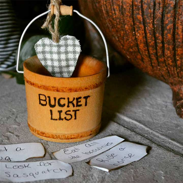 Bucket list gift basket