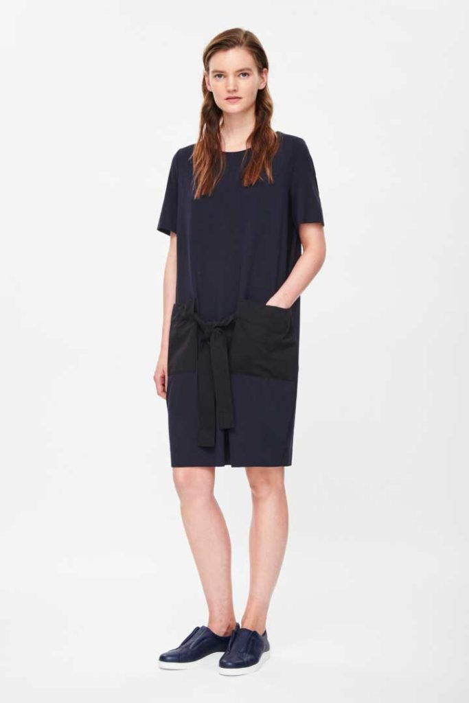 Dresses With Pockets: COS Tie-Waist Jersey Dress