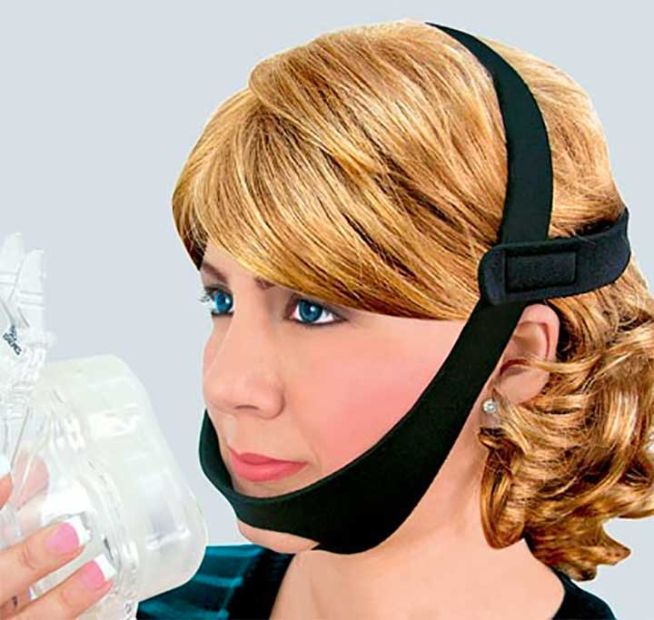 CPAP Chin Strap helps CPAP machines work more effectively for a better night's sleep