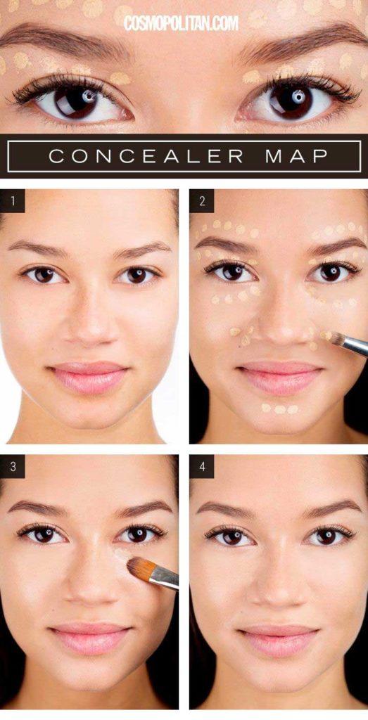 How To Use Makeup Brushes Hacks: Concealer Application