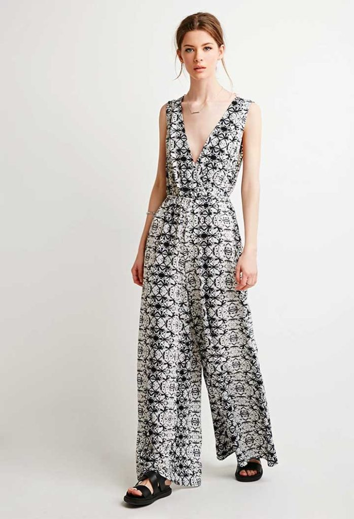 Contemporary Abstract Tie-Dye Jumpsuit