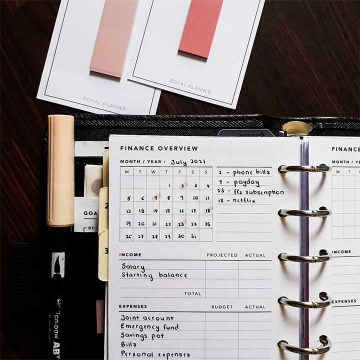 Create a monthly budget