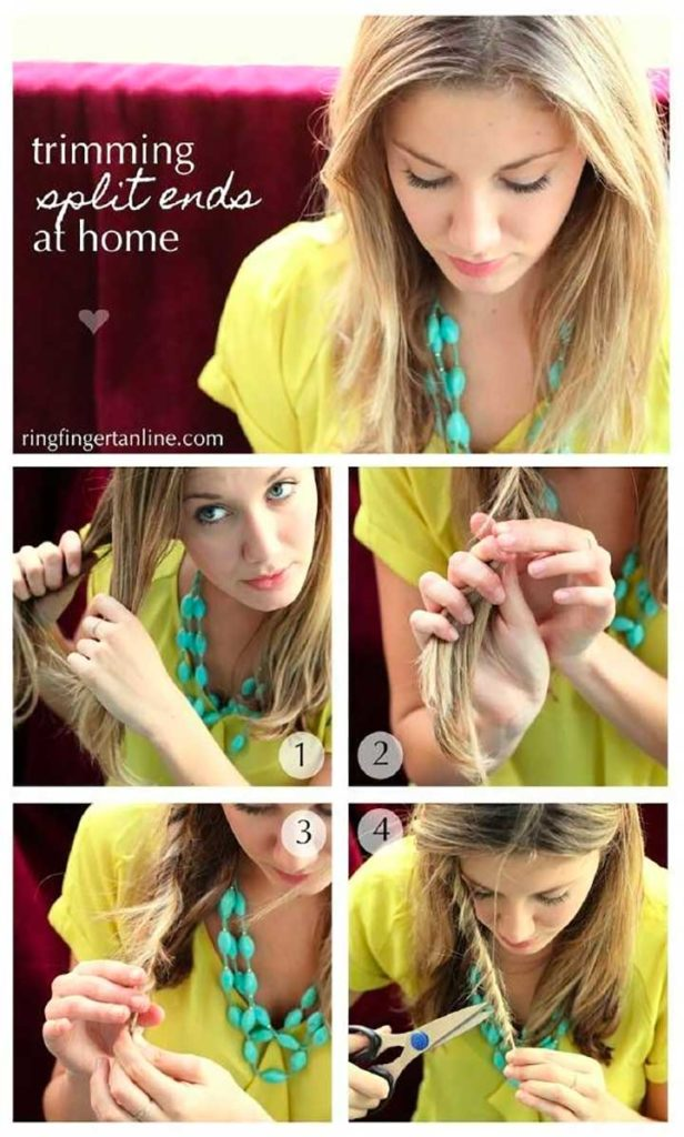 How To Cut Your Own Hair: Cut your own split ends