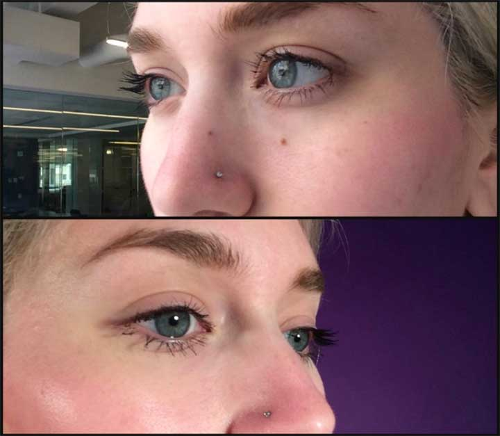 Diorshow Mascara review side lashes