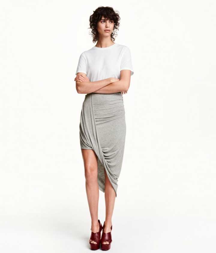 5 Unique Hemlines You Should Try For Fall: Draped Skirt.