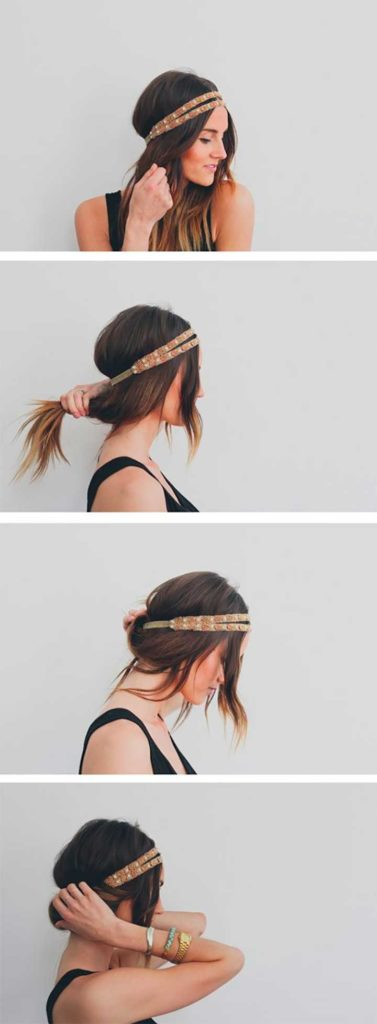 Easy Summer Hairstyles: Headband With A Twist