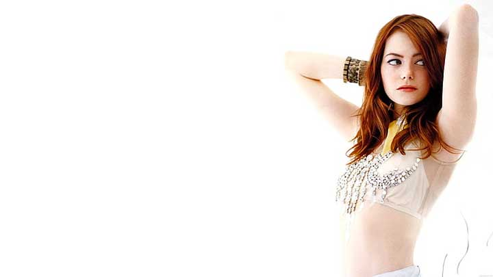 Emma Stone Crop Top White