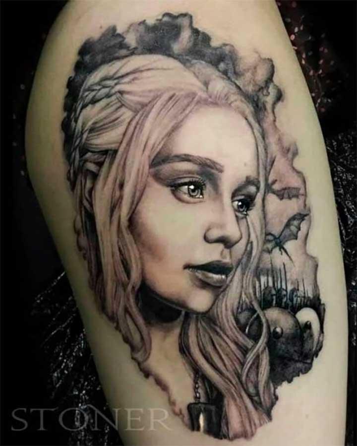 30 Epic Game Of Thrones Tattoos: Daenerys