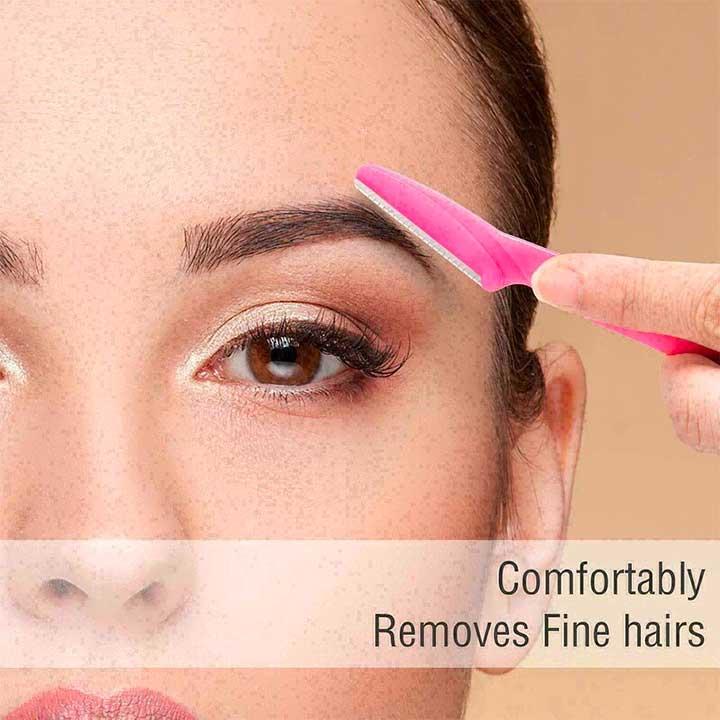 How do you use an eyebrow razor?
