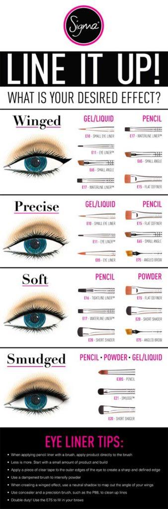 Eyeliner brushes Infographic