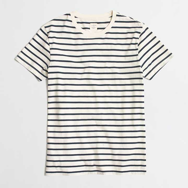 Factory Slim Deck-Striped T-Shirt