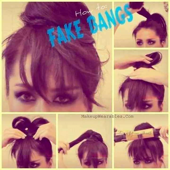 Fake Bangs Topknot