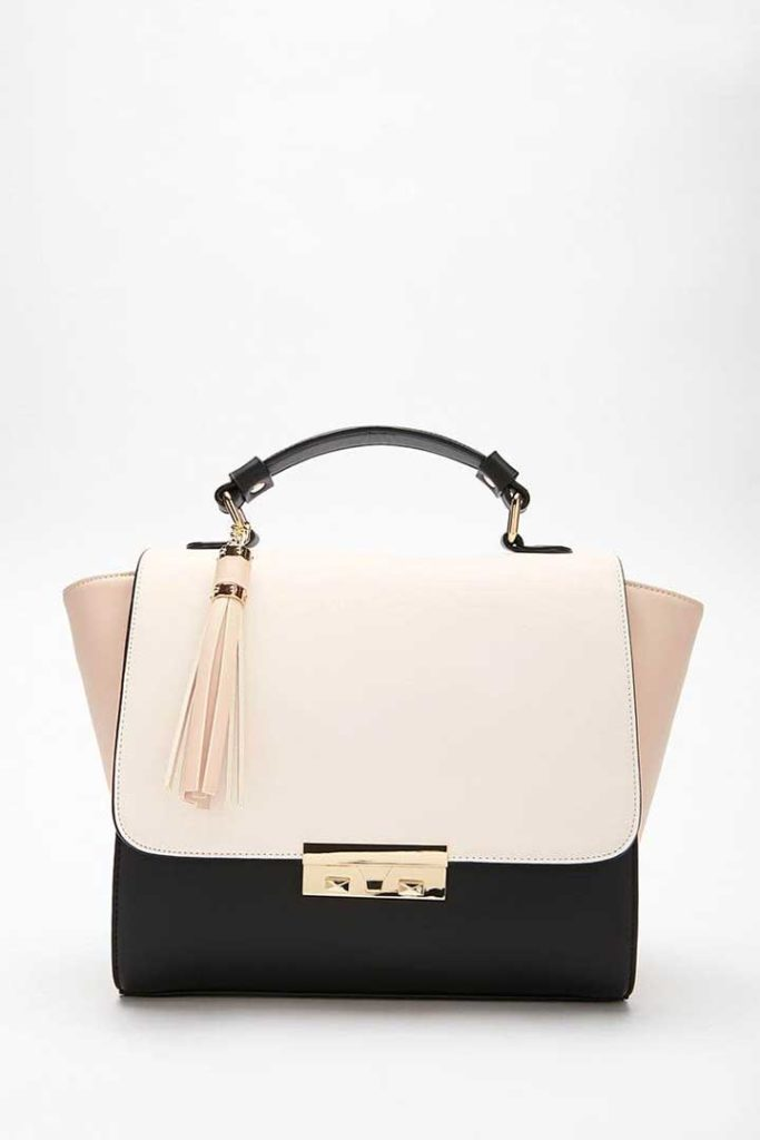 Forever 21 Colorblock Faux Leather Bag