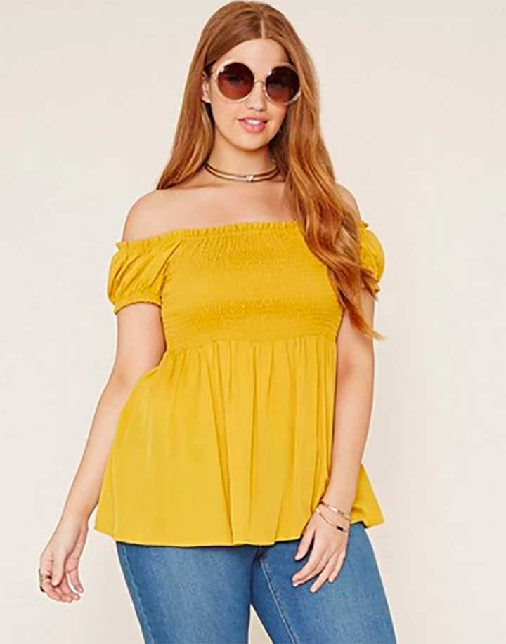 Forever 21 Plus Size Smocked Top