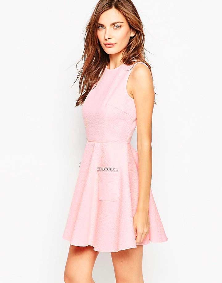 French Connection Lickety Split Flared Dress