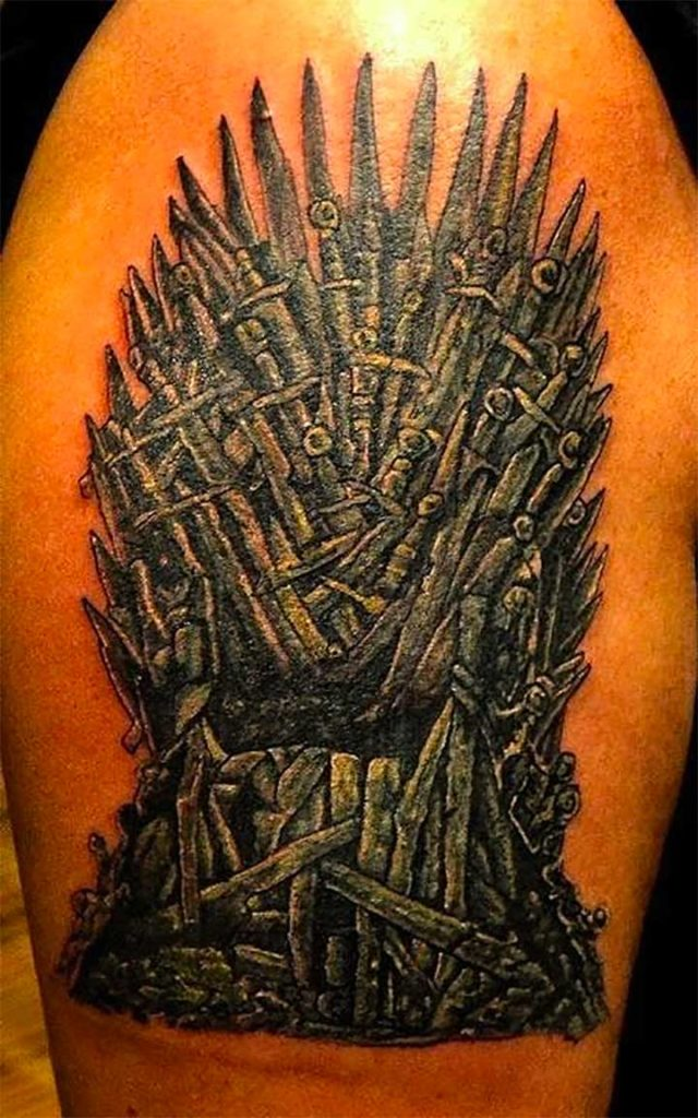 Game of Thrones Tattoo The Iron Throne