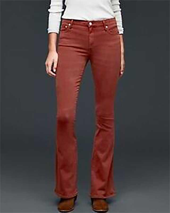 Gap Skinny Flare Russet Brown Jeans