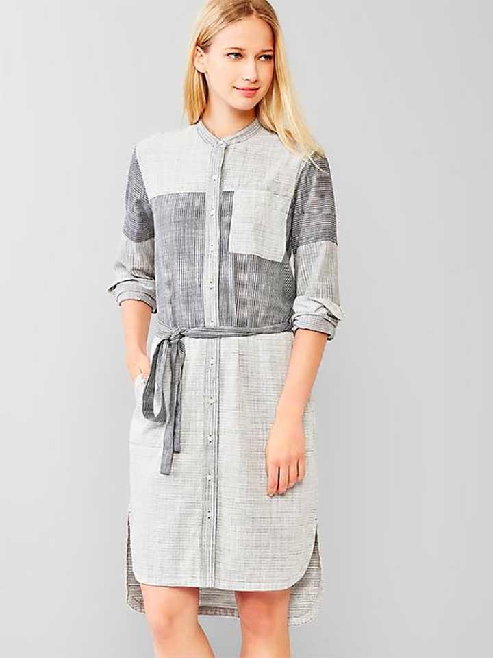 Gap patchwork shirt dress
