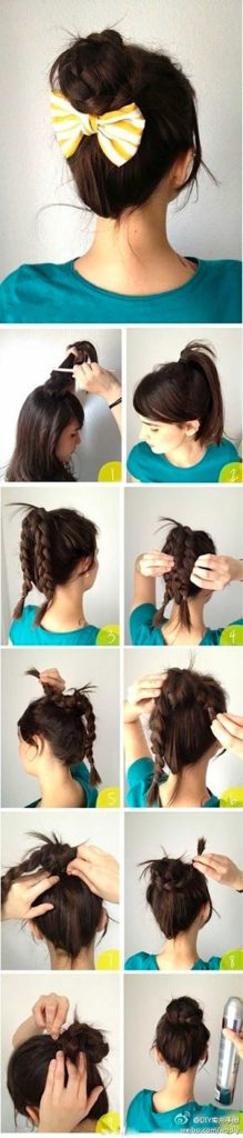 Hairstyles For When Summer Frizz: Girly Topknot
