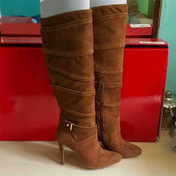 Guess Red Suede Boots