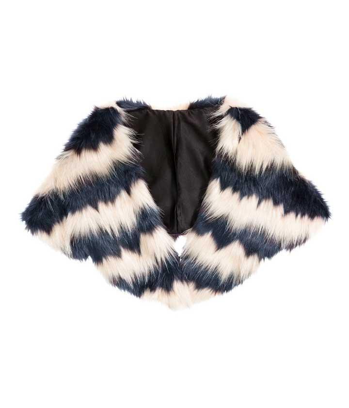 Unique Ways to Wear Fur and Faux Fur - H&M Faux Fur Collar