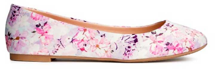 H&M Floral Ballet Flats