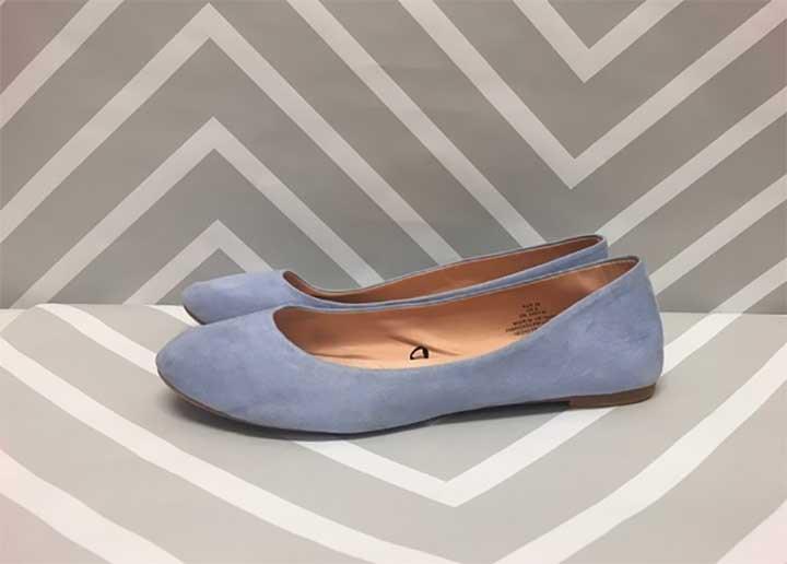H&M Light Blue Flats