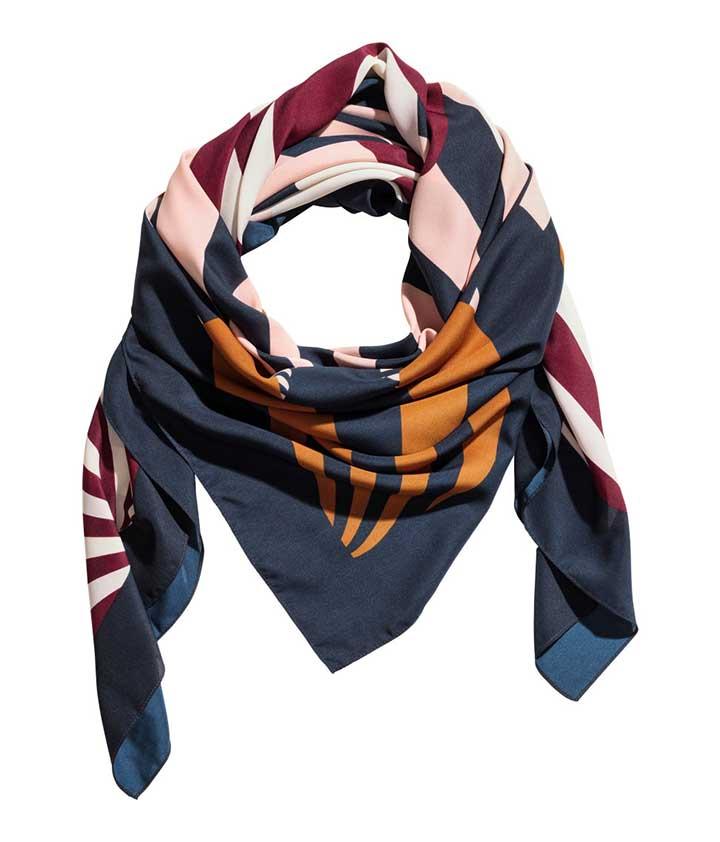 H&M Patterned Scarf - lightweight scarves for summer