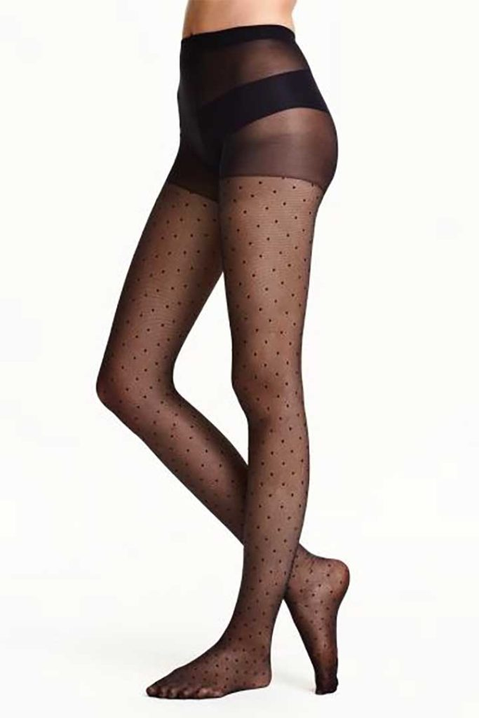 H&M Plus Size Dotted Tights